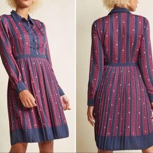 ModCloth Just My Typist Long Sleeve Dress